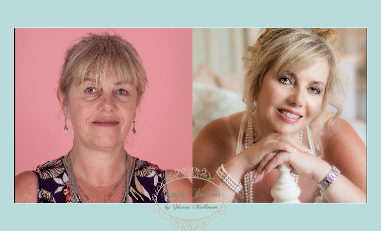 boudoir photography before and after image lincolnshire